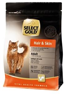 Select Gold Hair&Skin adult szárnyas&lazac 400g