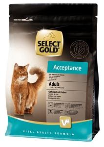 Select Gold Acceptance adult szárnyas&máj 400g