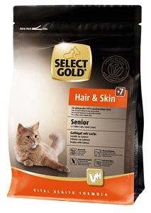 Select Gold Hair&Skin senior szárnyas&lazac 400g