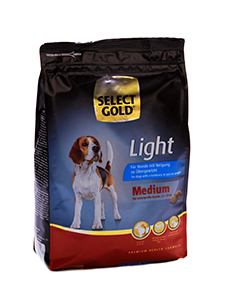 SELECT GOLD Medium Light száraz kutyaeledel 1 kg