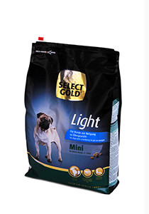 SELECT GOLD Mini Light száraz kutyaeledel 4 kg
