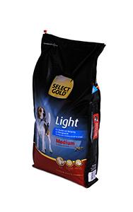 SELECT GOLD Medium Light száraz kutyaeledel 12 kg