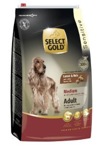SELECT GOLD Sensitive Medium Adult Bárány & Rizs száraz kutyaeledel 4 kg