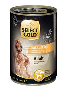 Select Gold konzerv érzékeny felnőtt kutyáknak - csirke, rizs 400g