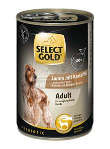 Select Gold konzerv érzékeny felnőtt kutyáknak – bárány, burgonya 400g
