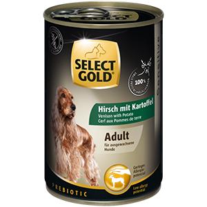 Select Gold konzerv érzékeny felnőtt kutyáknak – szarvas, burgonya 400g