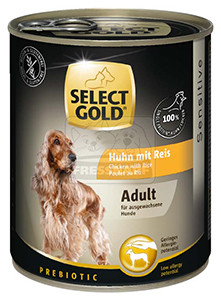 Select Gold konzerv érzékeny felnőtt kutyáknak – csirke, rizs 800g