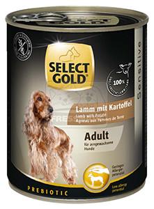 Select Gold konzerv érzékeny felnőtt kutyáknak – bárány, burgonya 800g