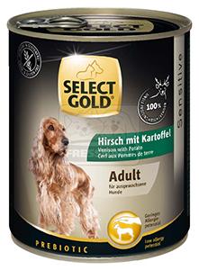Select Gold konzerv érzékeny felnőtt kutyáknak – szarvas, burgonya 800g
