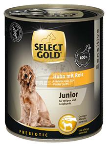 Select Gold Junior konzerv érzékeny kölyök kutyáknak – csirke, rizs 800g