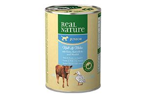 Real Nature Junior borjú- és baromfihúsos kutyakonzerv 400g