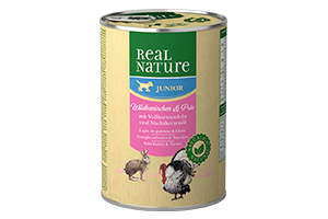 Real Nature Junior vadnyúlhúsos kutyakonzerv 400g