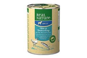 Real Nature kutyakonzerv, 400 g északi tengeri heringgel