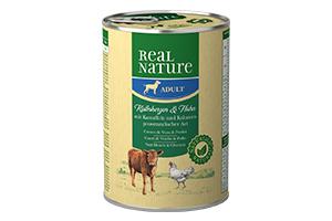 Real Nature kutyakonzerv borjúszív 400g