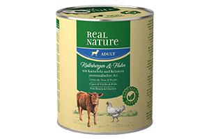 Real Nature kutyakonzerv borjúszív 800g