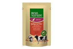 Real Nature cica tasakos marha- és baromfihús pirospaprikával és szőlőmagolajjal 85g