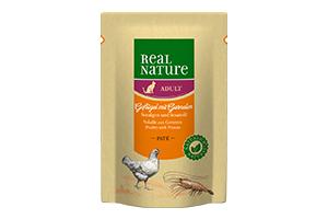 Real Nature cica tasakos kacsa és garnélarák tengeri algával és szezámmaggal 85g