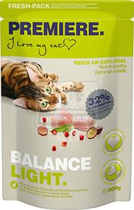 Premiere Balance Light szárazeledel felnőtt cicáknak, 300g