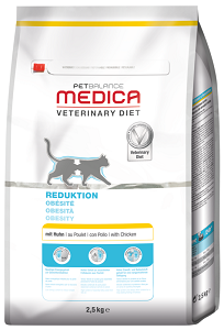 PetBalance Medica elhízás kezelésére diétás eledel cicák számára 2,5kg
