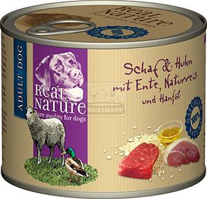 Real Nature birka- és baromfihúsos kutyakonzerv 200g