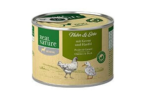 Real Nature senior csirke és bárány árpával és kenderolajjal kutyakonzerv 200g