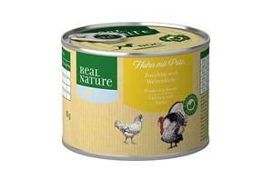 Real Nature light csirke pulykával, cukkinivel és búzakorpával kutyakonzerv 200g