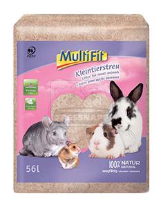 MultiFit kisemlős alom natúr faforgács 56l