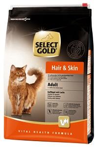 Select Gold Hair&Skin adult szárnyas&lazac 3kg