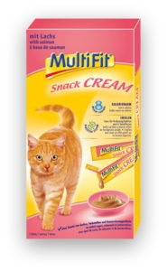 MultiFit Snack Cream lazac 7x15g