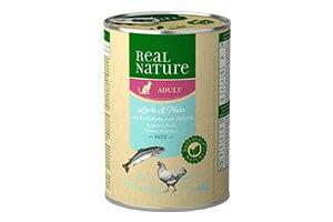 Real Nature hal+csirke konzerv macskáknak 400g