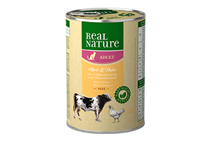 Real Nature csirke+marha konzerv macskáknak 400g