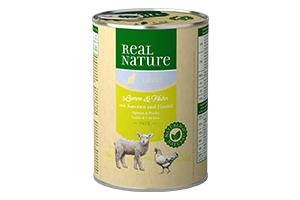 Real Nature light csirke+bárány konzerv macskáknak 400g