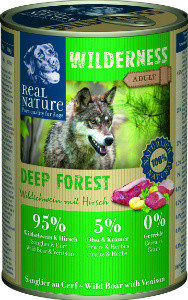 Real Nature Wilderness vaddisznó szarvassal kutyakonzerv 400g