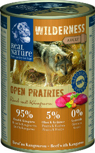 Real Nature Wilderness marha kenguruval kutyakonzerv 400g