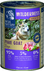 Real Nature Wilderness kecske kutyakonzerv 400g
