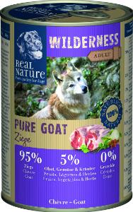 Real Nature Wilderness kecske kutyakonzerv 400g