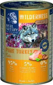 Real Nature Wilderness pulyka kutyakonzerv 400g