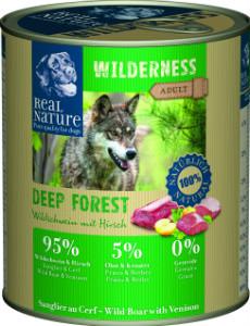 Real Nature Wilderness vaddisznó szarvassal kutyakonzerv 800g