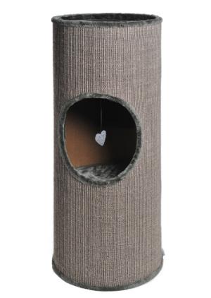 AniOne cica kaparófa Tobi hordó szürke 40×100