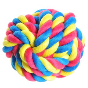 AniOne kutyajáték kötél labda színes 8cm