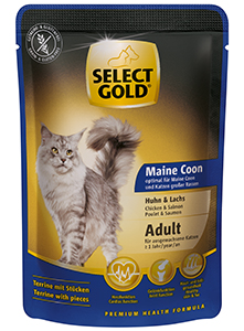 SELECT GOLD Maine Coon alutasakos csirke+lazac 85g