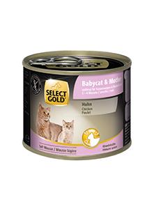 SELECT GOLD Babycat csirke 200g