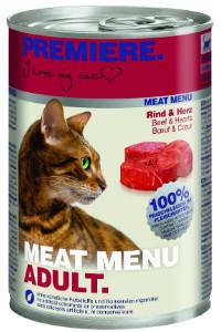 Premiere Meat Menu cicakonzerv marha+szív 400g