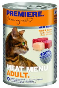 Premiere Meat Menu cicakonzerv marha+csirke 400g