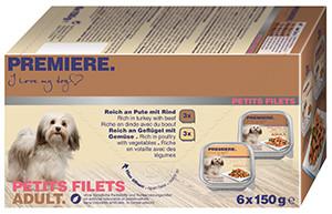 PREMIERE Petits Filets multipack tálkás kutyáknak 6x150g