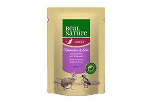 Real Nature tasakos cicaeledel nyúl+kacsa 85g