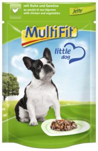 MultiFit Pouch Jelly kutyáknak csirke+zöldségek 100g