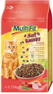 MultiFit Soft'n Knuspy cica száraz marha+csirke+zöldség 1,75 kg
