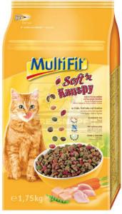 MultiFit Soft'n Knuspy cica száraz pulyka+csirke+zöldség 1,75 kg