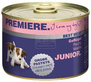 PREMIERE Best Meat Junior kutyakonzerv szárnyas 185g